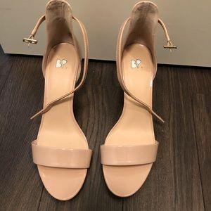 Cream sandals, worn once. Size 9
